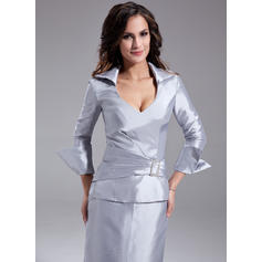 champagne knee length mother of the bride dresses