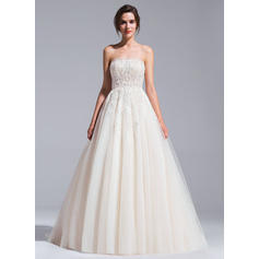 Chapel Train Ball-Gown - Tulle Chic Wedding Dresses (002071237)