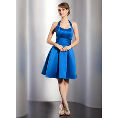 1010926ed37 A-Line Princess Knee-Length Homecoming Dresses Halter Satin Sleeveless  (022213992)  images homecoming dresses for teens  inexpensive short  homecoming ...