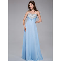 Floor-Length Chiffon A-Line/Princess Sweetheart Prom Dresses (018025518)