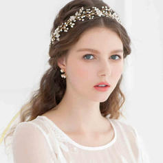 "Headbands Wedding/Special Occasion/Casual/Outdoor/Party Rhinestone/Imitation Pearls 14.17""(Approx.36cm) 1.97""(Approx.5cm) Headpieces"