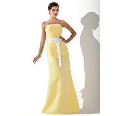 Magnificent Strapless A-Line/Princess Sleeveless Satin Bridesmaid Dresses