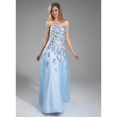 Corte A/Princesa Hermoso Sin mangas Tul Vestidos de baile de promoción (018211456)
