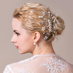 "Combs & Barrettes Wedding/Special Occasion Alloy/Imitation Pearls 5.53""(Approx.14cm) 3.35""(Approx.8.5cm) Headpieces"