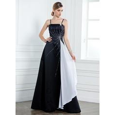 Hermoso Hasta el suelo Corte A/Princesa Satén Vestidos de madrina (008211154)