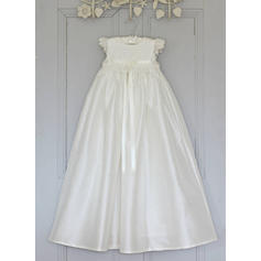 A-Line/Princess Scoop Neck Floor-length Satin Christening Gowns With Lace (2001216805)