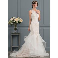 vestidos de noiva sereia rendas