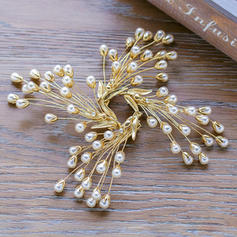 Hairpins Wedding/Party Alloy/Imitation Pearls Beautiful Ladies Headpieces