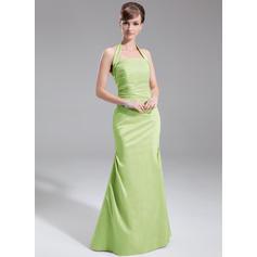 vestidos de sirena de dama de honor rosa