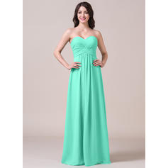 A-Line/Princess Sweetheart Floor-Length Bridesmaid Dresses With Ruffle (007058124)