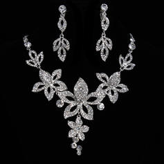 Jewelry Sets Alloy/Rhinestones Lobster Clasp Earclip Elegant Wedding & Party Jewelry