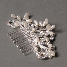 "Combs & Barrettes Wedding/Special Occasion/Party Rhinestone/Alloy/Freshwater Pearl 3.94""(Approx.10cm) 1.97""(Approx.5cm) Headpieces"