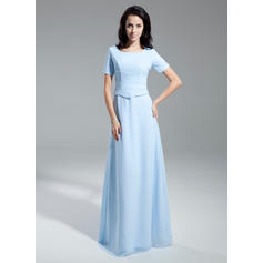 Flattering Scoop Neck A-Line/Princess Chiffon Mother of the Bride Dresses (008211372)