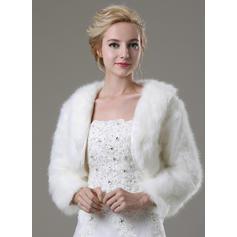 Wrap Fashion Faux Fur Long Sleeve Other Colors Wraps