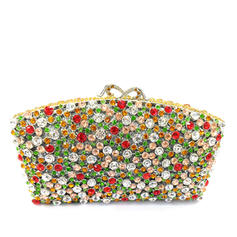 Clutches/Luxury Clutches Wedding/Ceremony & Party Crystal/ Rhinestone/Alloy Magnetic Closure Classical Clutches & Evening Bags