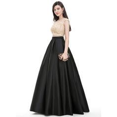 Elegante con Corte de baile Satén Vestidos de baile de promoción (018105688)