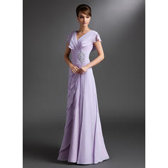 Glamorous Chiffon V-neck A-Line/Princess Mother of the Bride Dresses
