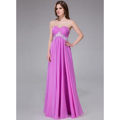 Hasta el suelo Gasa Corte imperial Novio Vestidos de baile de promoción (018040813)
