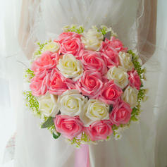 "Bridal Bouquets Round Wedding Satin 11.81""(Approx.30cm) Wedding Flowers"