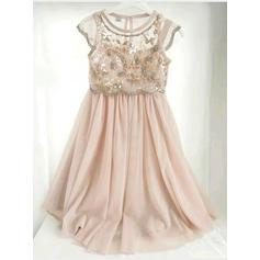 Stunning Floor-length A-Line/Princess Flower Girl Dresses Scoop Neck Chiffon Sleeveless