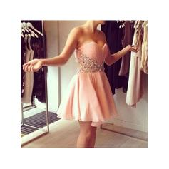 A-Line/Princess Sequins Chiffon Homecoming Dresses Sweetheart Sleeveless Short/Mini