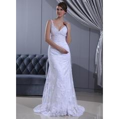 cheap lace back wedding dresses