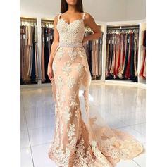 Trumpet/Mermaid Sleeveless Tulle General Plus Evening Dresses
