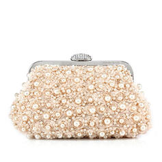 Clutches Wedding/Ceremony & Party Satin Clip Closure Charming Clutches & Evening Bags
