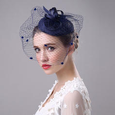 Cambric With Tulle Fascinators Beautiful/Elegant/Eye-catching Ladies' Hats