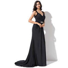 elegant long evening dresses navy
