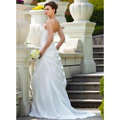 silke bröllopsklänningar med fickor