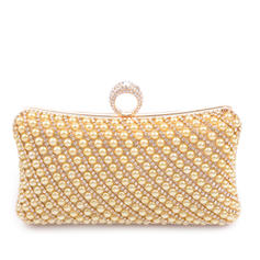 Clutches Ceremony & Party PU Clip Closure Charming Clutches & Evening Bags