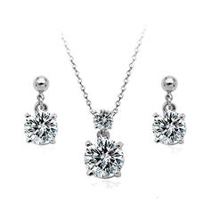 Jewelry Sets Alloy/Cubic Zirconia Lobster Clasp Pierced Ladies' Wedding & Party Jewelry