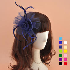 Organza med Fjær Fascinators Nydelig Damene ' Hatter