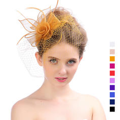Dames Mooi Organza met Feather Fascinators