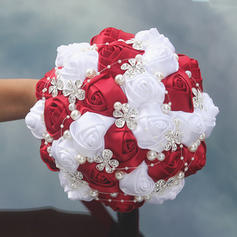 "Bridal Bouquets Round Wedding/Party Satin 9.84""(Approx.25cm) Wedding Flowers"
