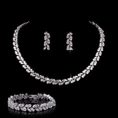 Jewelry Sets Zircon Pierced Ladies' Beautiful Wedding & Party Jewelry