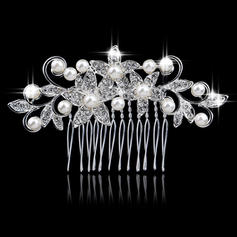 """Combs & Barrettes Wedding/Special Occasion/Outdoor Alloy/Imitation Pearls 3.15""""(Approx.8cm) 2.36""""(Approx.6cm) Headpieces"""