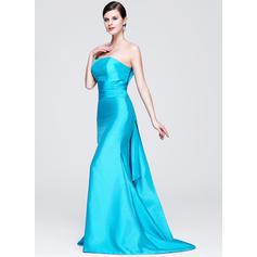 Princesa Tafetán Corte trompeta/sirena Cremallera Vestidos de noche (017014276)