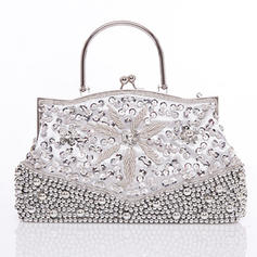 Clutches/Wristlets Wedding/Ceremony & Party/Casual & Shopping Silk Kiss lock closure Fashional Clutches & Evening Bags