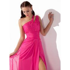 ljusrosa och guld balklänningar