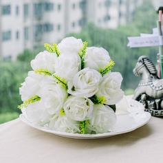 "Bridesmaid Bouquets Round Wedding Satin 8.66""(Approx.22cm) Wedding Flowers"