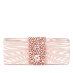 Clutches Wedding/Ceremony & Party Satin Snap Closure Unique Clutches & Evening Bags