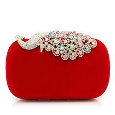 Clutches Wedding/Ceremony & Party Velvet Clip Closure Gorgeous Clutches & Evening Bags