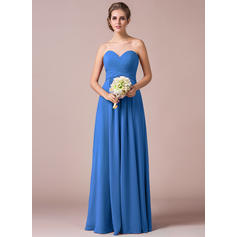 A-Line/Princess Sweetheart Floor-Length Bridesmaid Dresses With Ruffle (007063005)