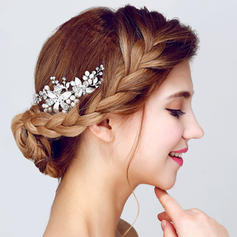 """Combs & Barrettes Wedding/Special Occasion/Party Alloy/Imitation Pearls 4.13""""(Approx.10.5cm) 2.17""""(Approx.5.5cm) Headpieces"""