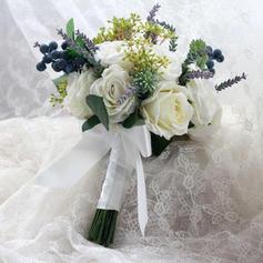 Precioso Atado a mano Tela/Cintas Ramos de novia