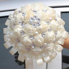 "Bridal Bouquets Free-Form Wedding/Party Satin 9.84""(Approx.25cm) Wedding Flowers"