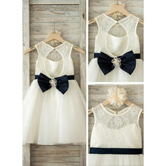 silver chiffon flower girl dresses