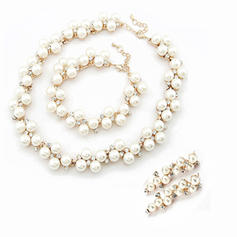 Jewelry Sets Alloy/Pearl Rhinestone Lobster Clasp Pierced Wedding & Party Jewelry
